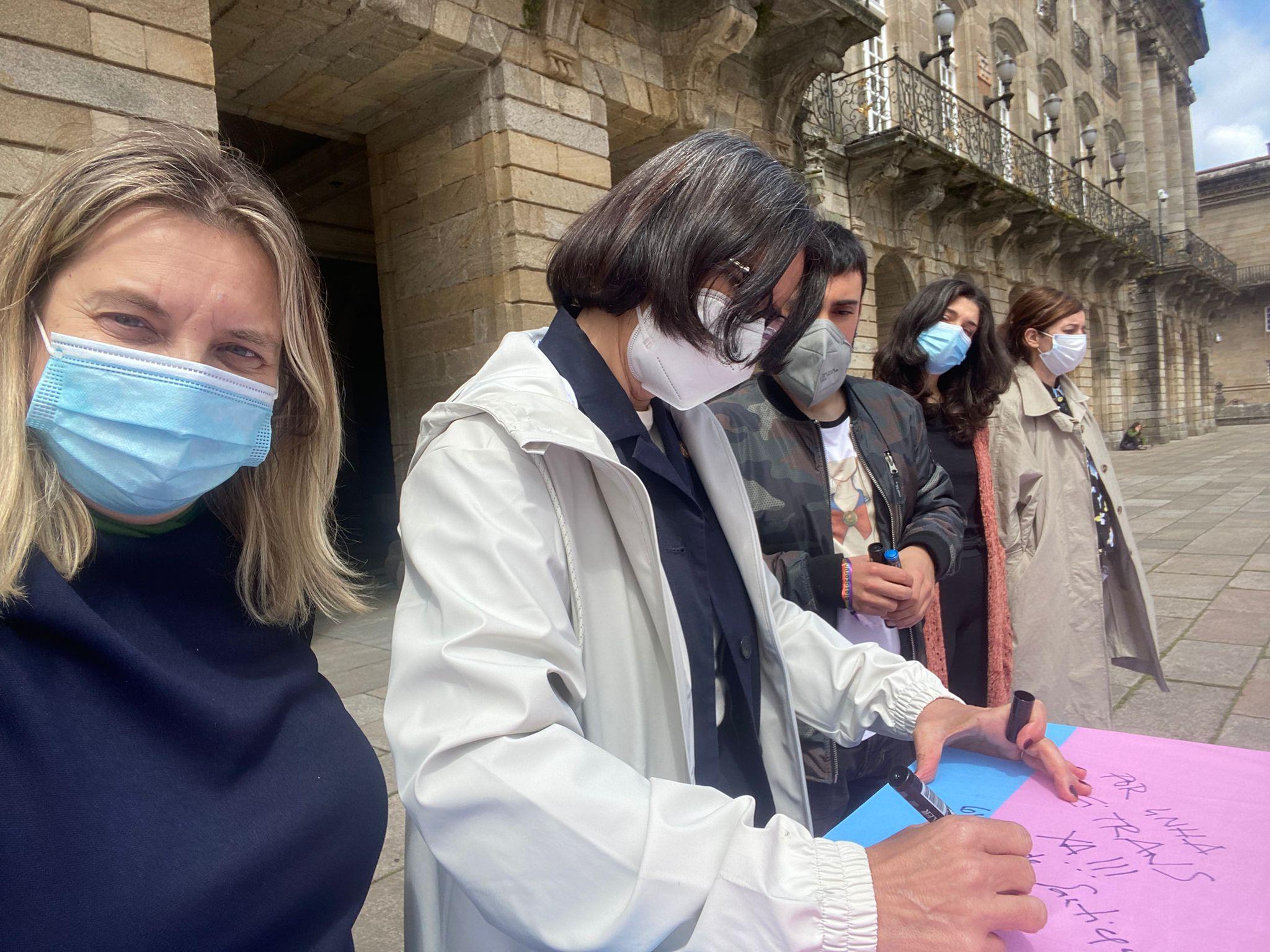 exigimos la igualdad trans en Santiago